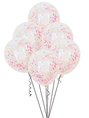 Unique Party Supplies 30,5 cm Neon Konfetti Luftballons, 6 Stück von Unique Party Supplies