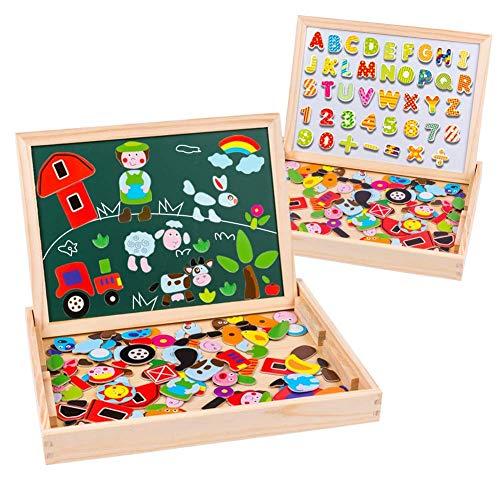 Doppelseitige Puzzle Tafel Holzpuzzle Tafel Magnetische Puzzle