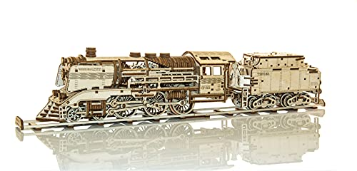 WOODEN.CITY WR323 Wooden Express + Tender Mechanisches Puzzle von WOODEN.CITY