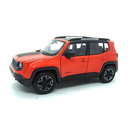 Jeep Renegade Trailhawk 2017 orange, Modellauto 1:24 / Welly von Welly