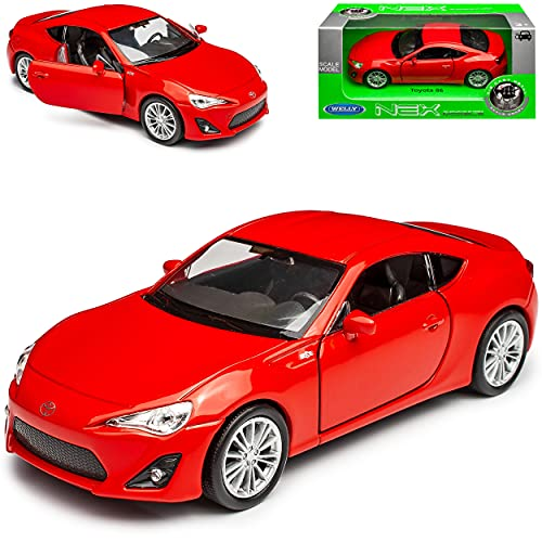 Welly Toyota GT86 Coupe Rot Ab 2012 ca 1/43 1/36-1/46 Modell Auto von Welly