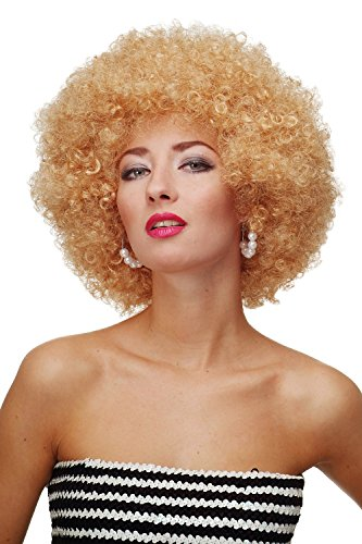 WIG ME UP ® - PW0011-P70 Perücke Afroperücke Afro 70er Jahre Party Partyperücke Funk Funky Disco Foxy Goldblond von WIG ME UP