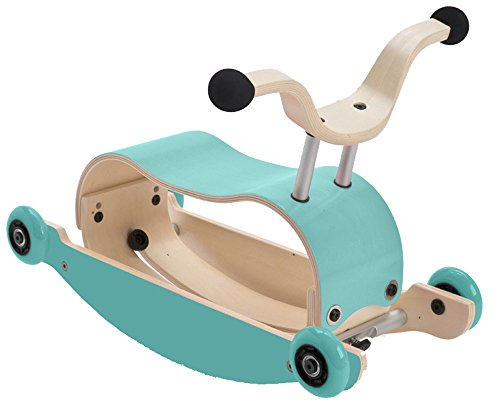 WISHBONE mini FLIP mix & match 3in1 - Laufwagen + Rutschauto + Schaukel in Farbe: Top aqua + Base aqua + Räder aqua von Wish Bone