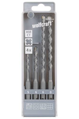 Wolfcraft Hartmetall Hammerbohrer-Set 4teilig 8456000 SDS-Plus 1 Set von Wolfcraft