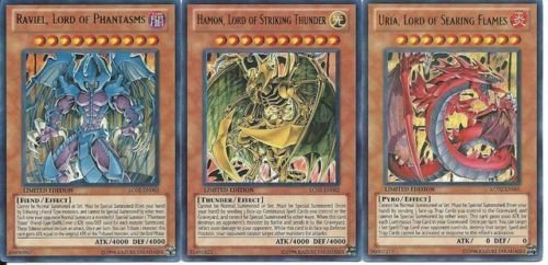 YU-GI-OH! YuGiOh GX Legendary Collection 2 Single Card Ultra Rare Set of The 3 Sacred Beast Cards Uria, Hamon Raviel by von YU-GI-OH!