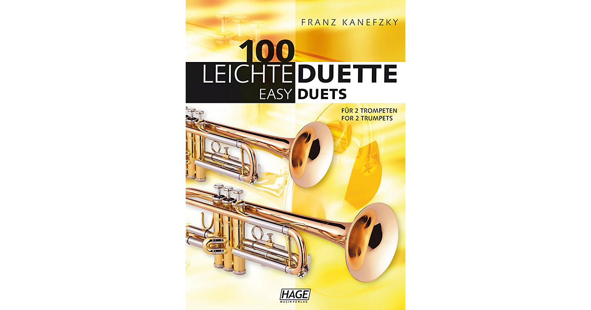 Buch - 100 leichte Duette 2 Trompeten, 100 Easy Duets for 2 Trumpets  Kinder