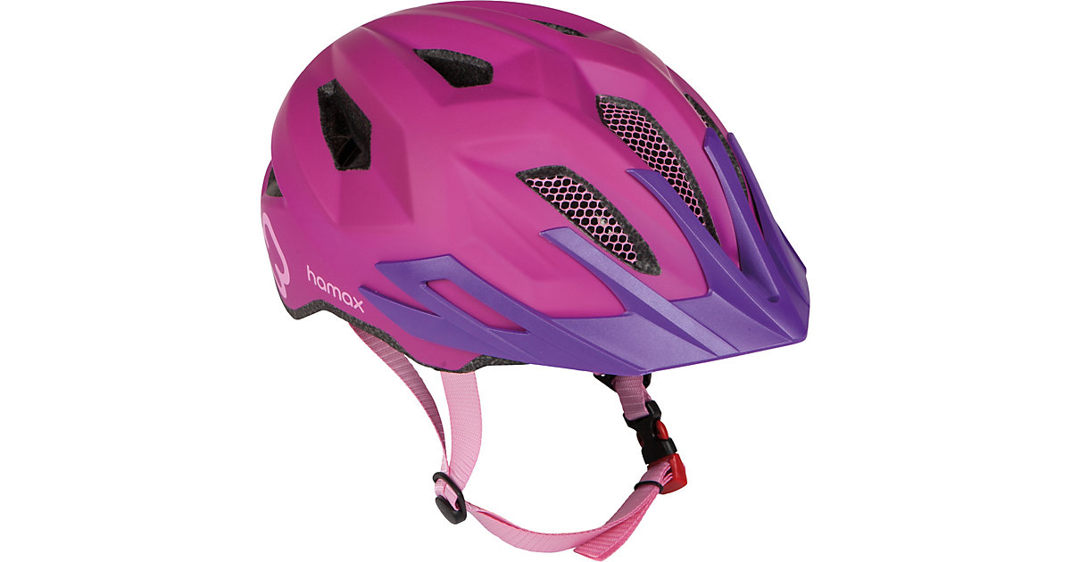 Fahrradhelm Hamax Flow with rear light, PINK/PURPLE 52-57 cm pink-kombi
