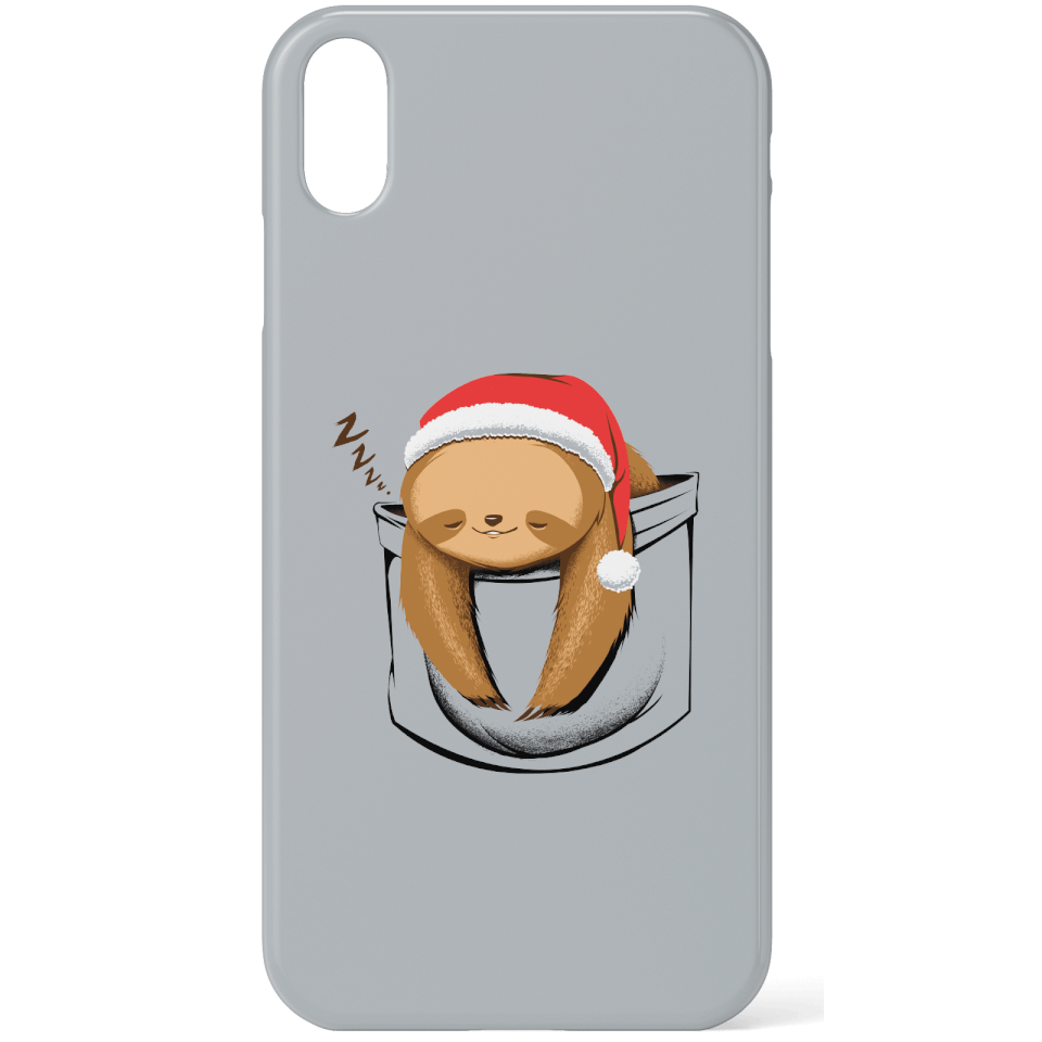 Tobias Fonseca Sloth In A Pocket Xmas Phone Case for iPhone and Android - Samsung S6 Edge - Snap Hülle Glänzend von TOBIAS FONSECA