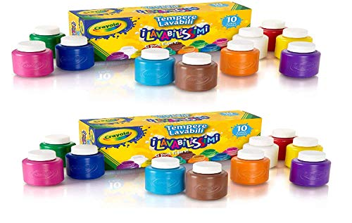 Crayola Washable Kids' Paint, Assorted Colors 10 ea (Pack of 2) von crayola