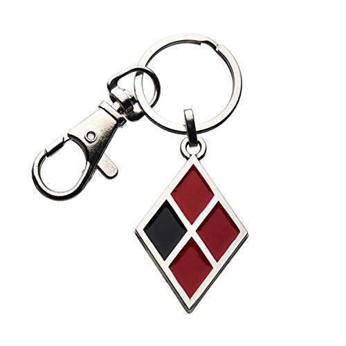 dc comics Birds of Prey Harley Quinn Diamond Logo Enamel Keychain von dc comics