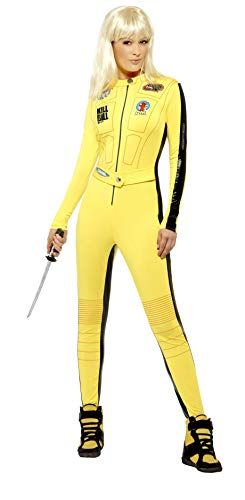 fancy dress warehouse Kill Bill Kostüm Gelb mit Overall u. Schwert, Small von fancy dress warehouse