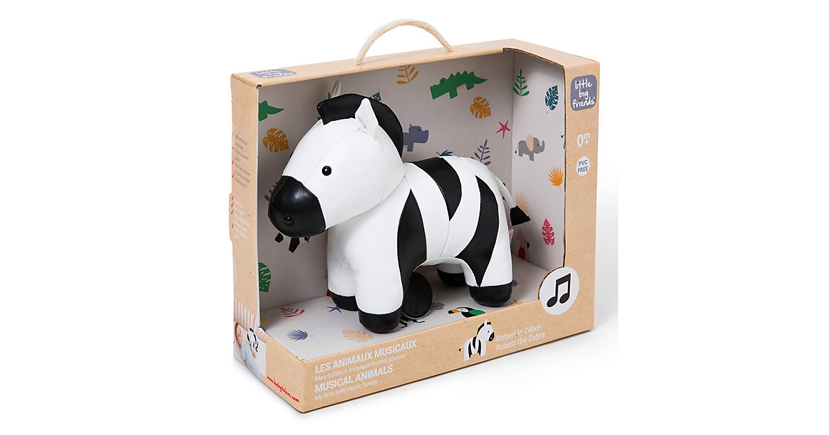 The Musical Animals - Robert the Zebra schwarz-kombi von little big friends