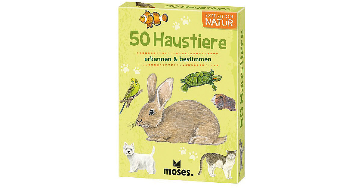 Buch - Expedition Natur: 50 Haustiere von moses