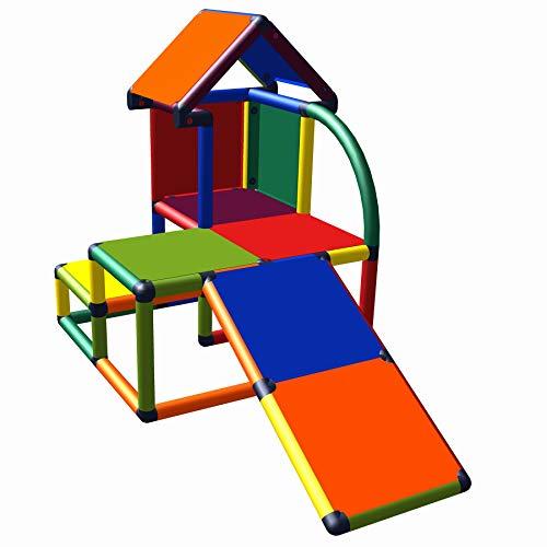 Kletterturm mit Rutsche f/ür Kleinkinder move and stic Helge gro/ßer Spielturm 7 Farben Multicolor